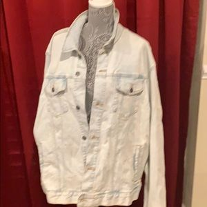 NWT men's light color jean jacket